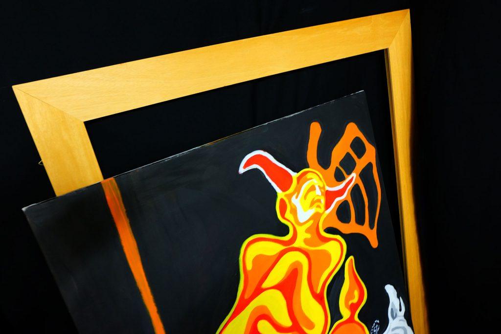 visual artist dipinto trasmutazione