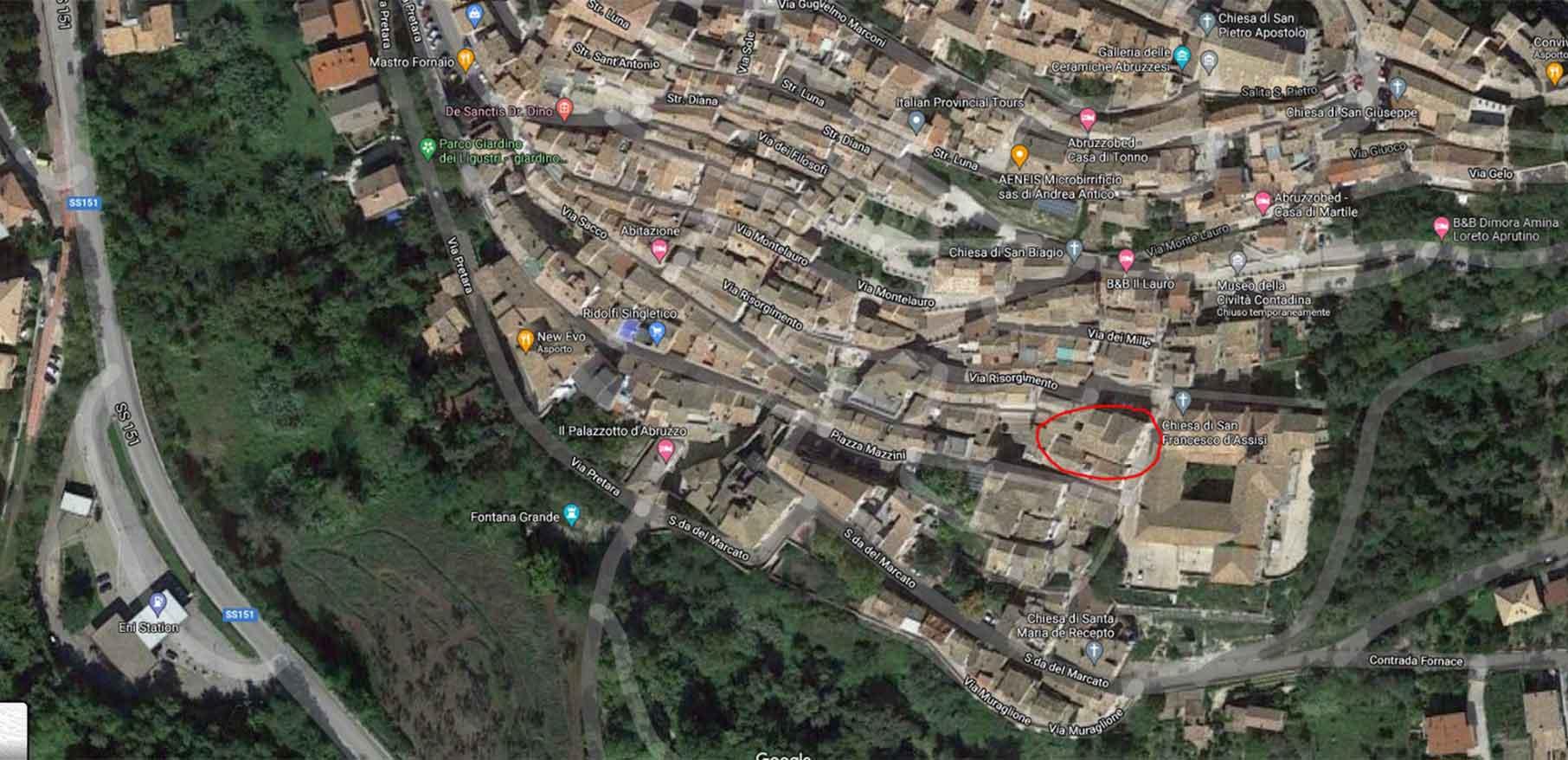 mappa palazzo tanzi-guanciali loreto aprutino